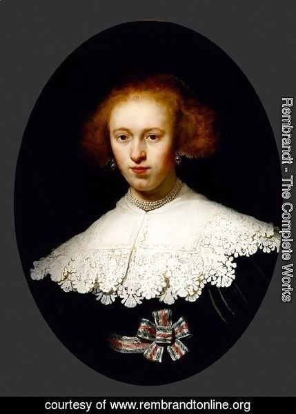 Rembrandt - Portrait of a Young Woman 3