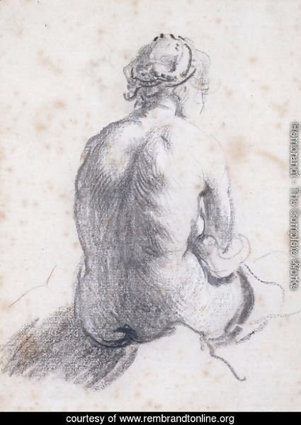 A Study of a Female Nude Seen from the Back