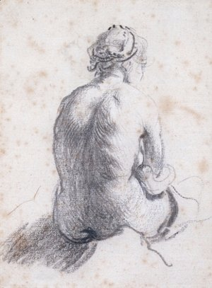 Rembrandt - A Study of a Female Nude Seen from the Back