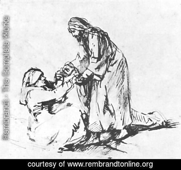 Rembrandt - Healing of Peter's Mother in law