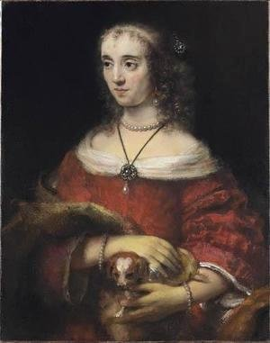 Rembrandt - Portrait of a Woman with a Lapdog