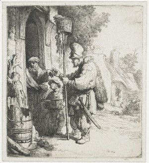 Rembrandt - The rat poison peddler (The rat catcher)