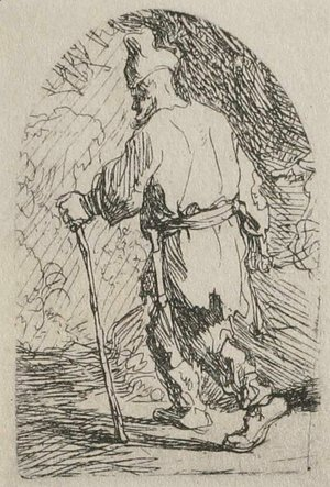Rembrandt - A Sketch for a Flight into Egypt