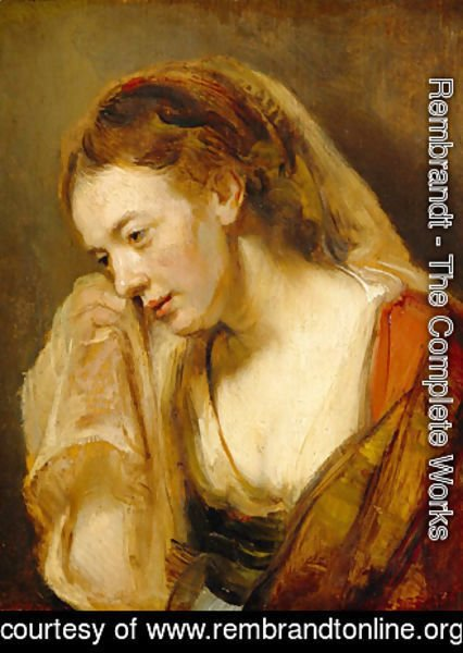 Rembrandt - A Woman Weeping