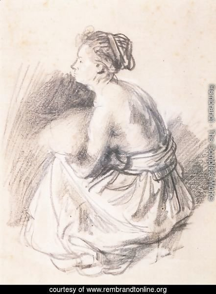 A Seated Woman, Naked to the Waist