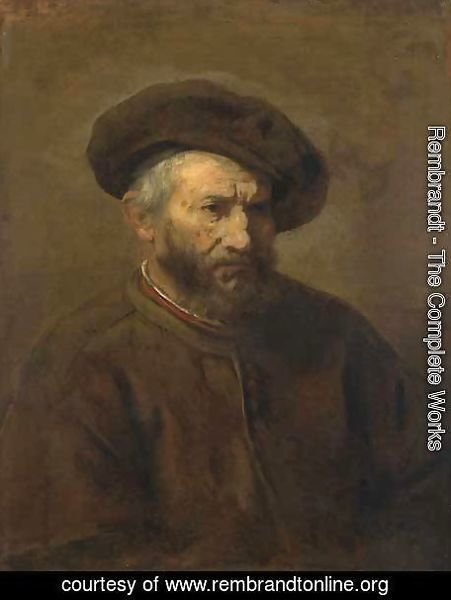 Rembrandt - A Study of an Elderly Man in a Cap