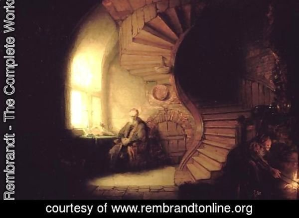 Rembrandt - Philosopher in Meditation