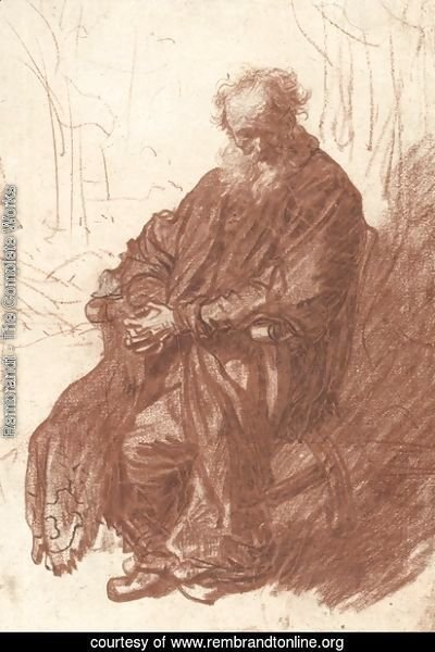 Old Man Seated in an Armchair, Full length