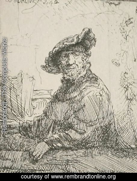 Rembrandt - A Man in an Arboug