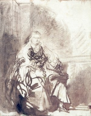 Rembrandt - A Study for The Great Jewish Bride