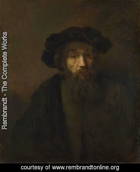 Rembrandt - A Bearded Man in a Cap