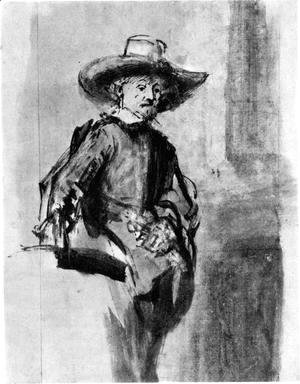Rembrandt - Study for one of the syndics of the Cloth Guild