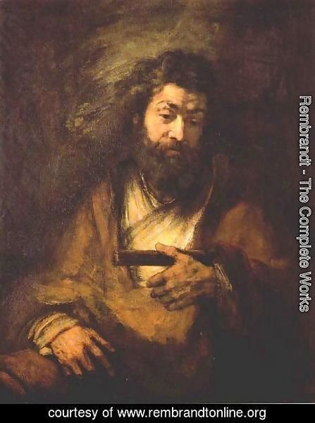 Rembrandt - The Apostle Simon