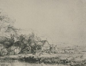 Rembrandt - Landscape with a Cow Drinking