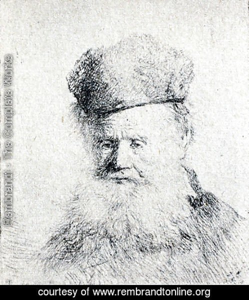 Rembrandt - A Man with a Large Beard and a Low Fur Cap