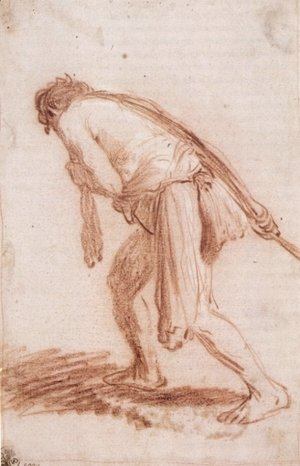 Rembrandt - Man Pulling a Rope
