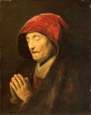 Rembrandt - Old Woman in Prayer