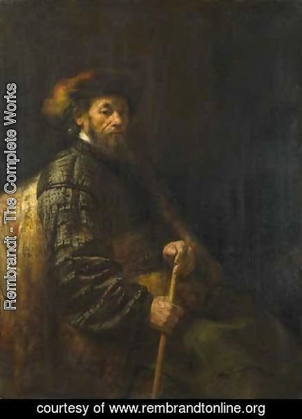 Rembrandt - A Seated Man