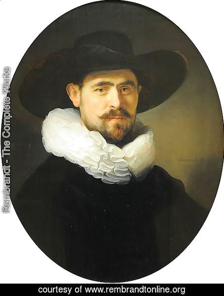 Portrait of a Bearded Man in a Wide Brimmed Hat