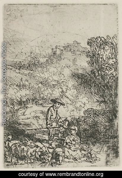 Rembrandt - The Shepards in the Woods