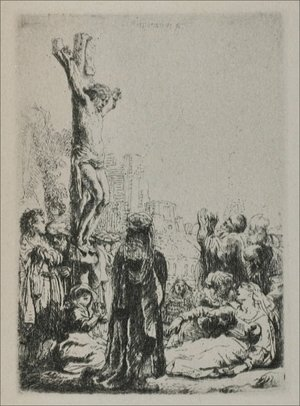 Rembrandt - The Crucifixion a Square Small Plate