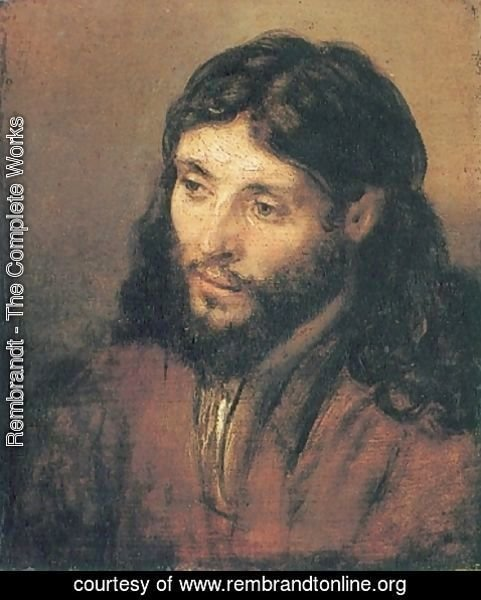 Rembrandt - Head of Christ 2
