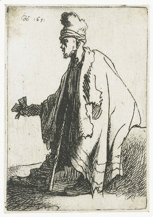 Rembrandt - The leper (Lazarus clep)