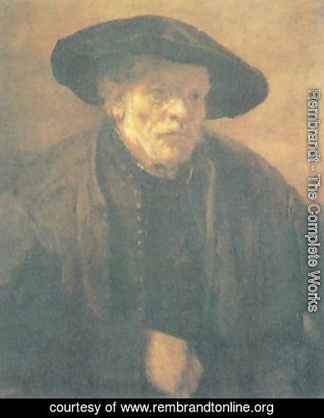 Rembrandt - Old man with a Beret