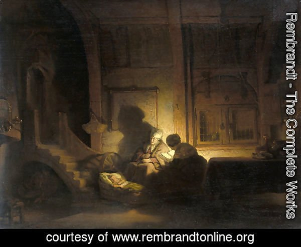 Rembrandt - The holy family night