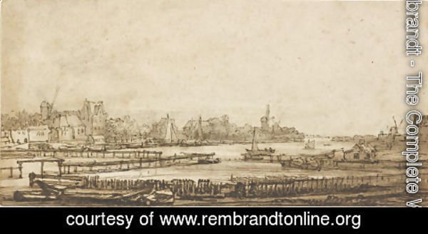 Rembrandt - View over the Amstel from the Rampart