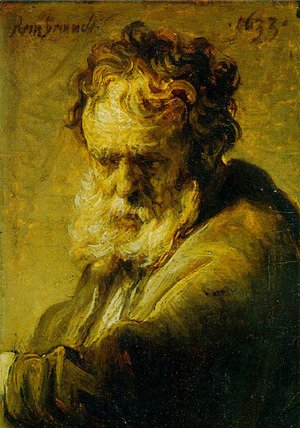Rembrandt - A Bust of an Old Man