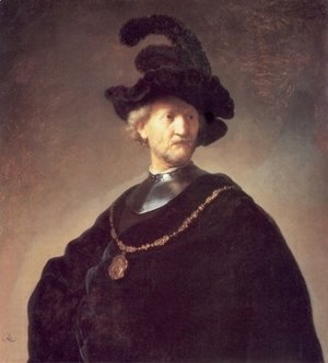 Rembrandt - Old Man with a Black Hat and Gorget