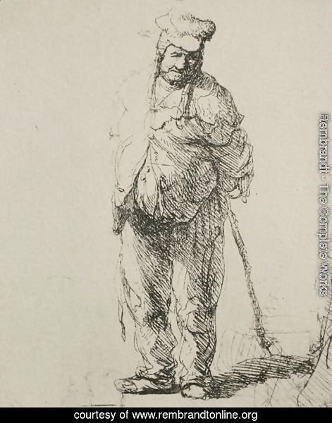 A Ragged Peasant with his Hands Behind Him