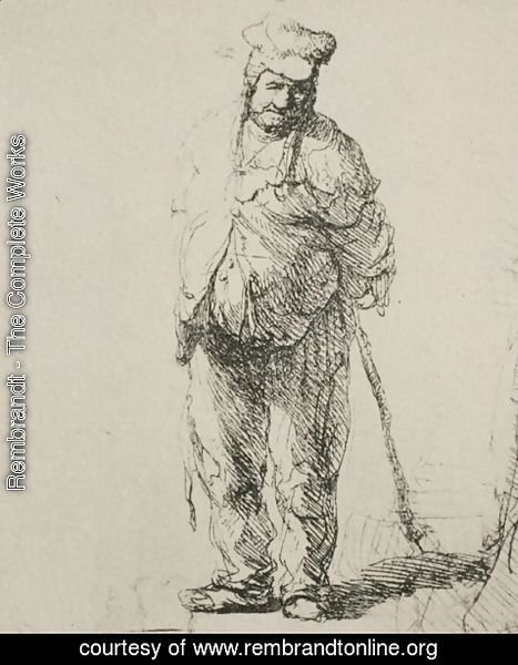 Rembrandt - A Ragged Peasant with his Hands Behind Him