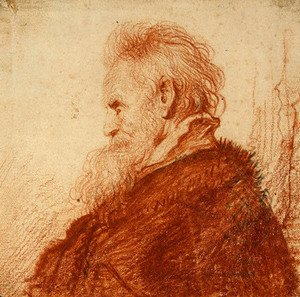 Rembrandt - Head of an Old Man 2