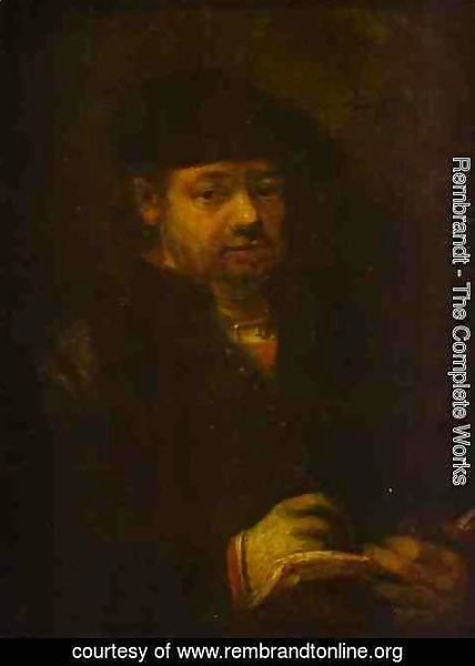Rembrandt - Self-portrait with a Sketch Book