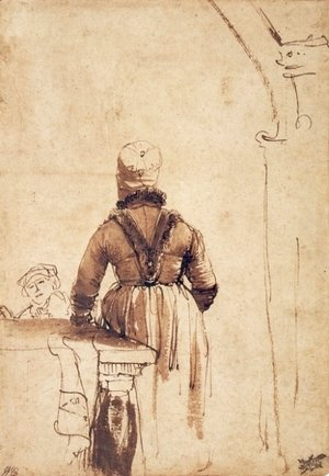 Rembrandt - Woman Wearing a Costume of Northern Holland
