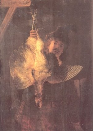 Rembrandt - Self-portrait with Bittern