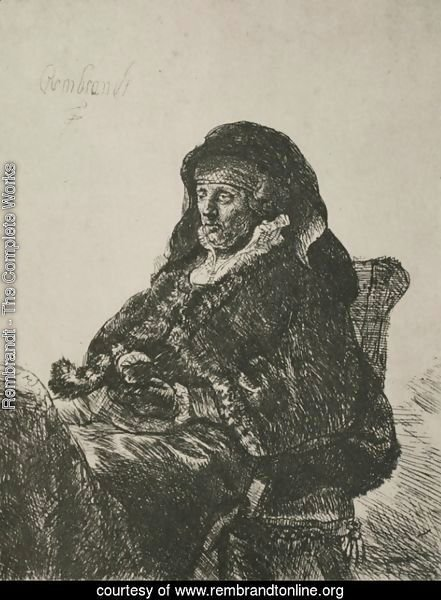 Rembrandt's Mother in a Widow's Dress