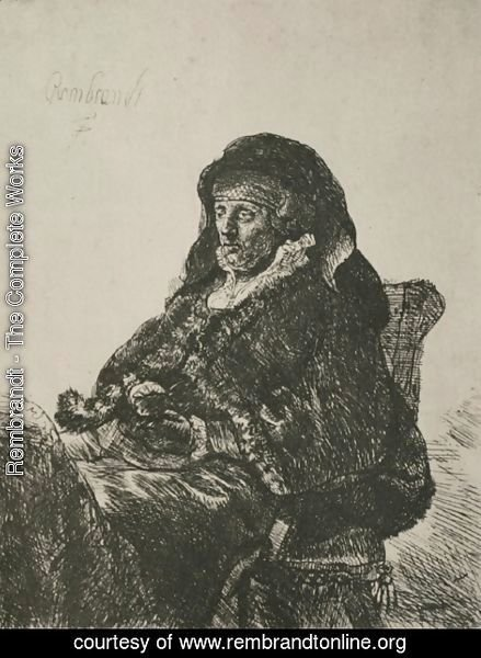 Rembrandt - Rembrandt's Mother in a Widow's Dress