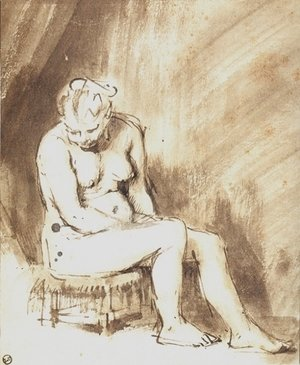 Rembrandt - A Seated Female Nude