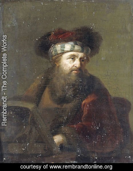 Rembrandt - Portrait of a Rabbi
