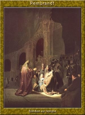 Rembrandt - Simeon in the Temple