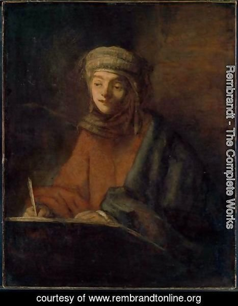 Rembrandt - Evangelist Writing