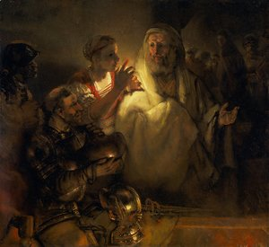 Rembrandt - The denial of Peter