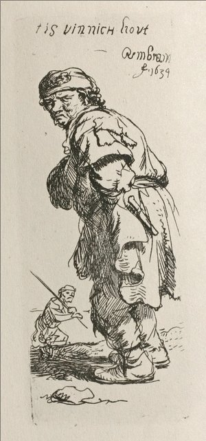 Rembrandt - A Beggar and a Companion Piece, Turned to the Left