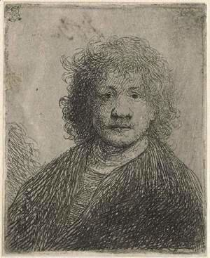 Rembrandt - Self-portrait with a broad nose
