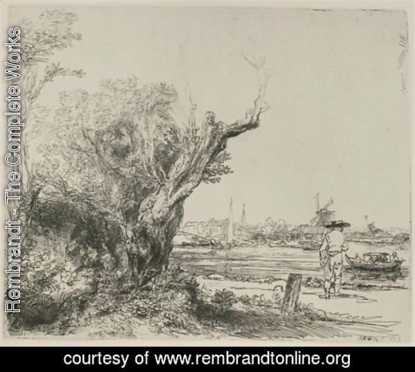 Rembrandt - View of Omval, near Amsterdam