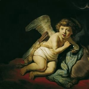 Rembrandt - Cupid with the Soap Bubble 1634