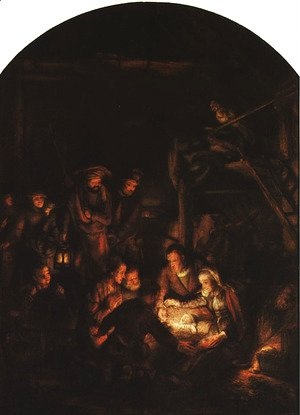 Rembrandt - Adoration of the Shepherds 1646